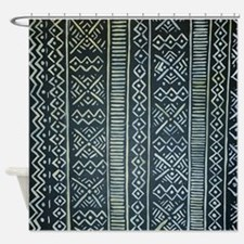 Mud Cloth Inspired Shower Curtain