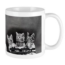 funny vintage dog cats photo Mugs