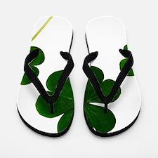st patricks day shamrocks clover Flip Flops