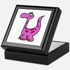 Purple Dinosaur Keepsake Box
