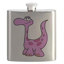 Purple Dinosaur Flask