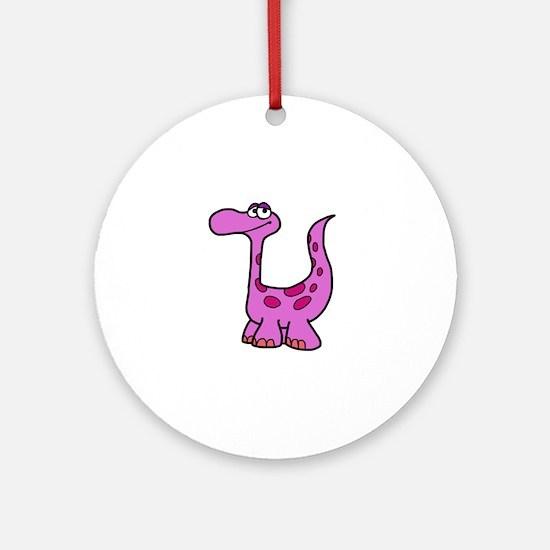 Purple Dinosaur Ornament (Round)