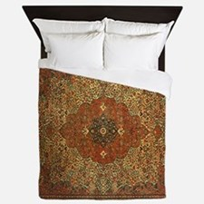 Antique Tabriz Pattern Queen Duvet