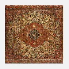 Antique Tabriz Pattern Tile Coaster