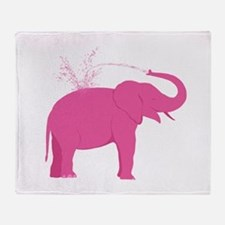 Pink Elephant Throw Blanket