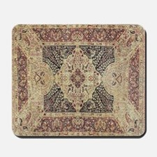 Antique Kerman Red/Blue Pattern Mousepad