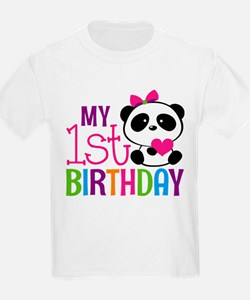 Panda 1st Birthday T-Shirt