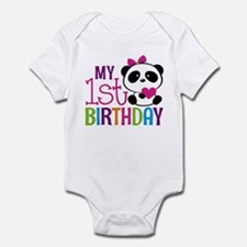 Panda 1st Birthday Body Suit