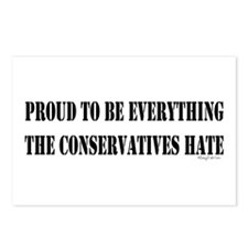 Everything Conservatives Hate Postcards (Package o