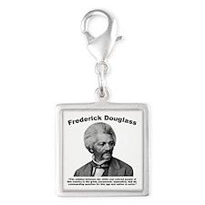 Douglass: Question Silver Square Charm