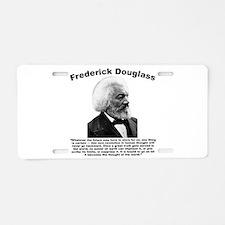 Douglass: Progress Aluminum License Plate