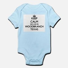 Keep calm we live in Woodbranch Texas Body Suit