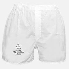 Keep calm we live in Annabella Utah Boxer Shorts