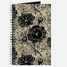 Flowers And Gears Black Journal