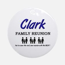 Clark Family Reunion Ornament (Round)