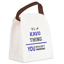 Cute Kavos Canvas Lunch Bag