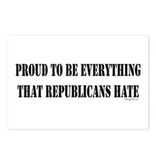 Everything Republicans Hate Postcards (Package of