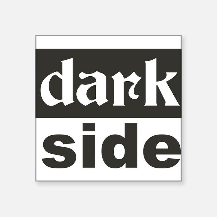 "Cute Dark side Square Sticker 3"" x 3"""
