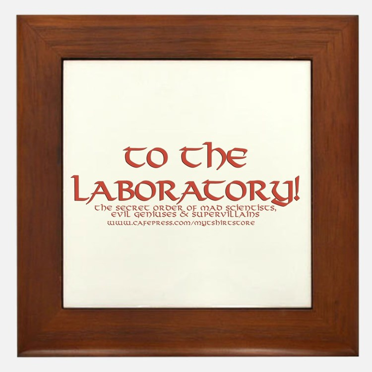 To The Laboratory Framed Tile