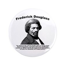 "Douglass: Justice 3.5"" Button"