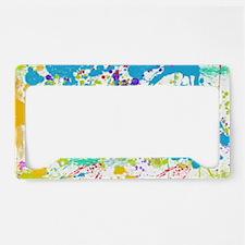 Paint Splatter License Plate Holder