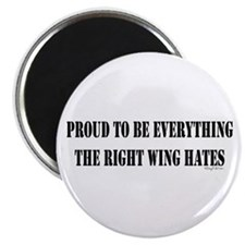 """Everything Right Wing Hates 2.25"""" Magnet (10 pack)"""