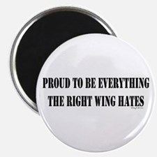 """Everything Right Wing Hates 2.25"""" Magnet (100 pack"""