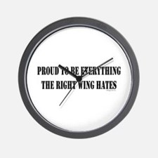 Everything Right Wing Hates Wall Clock