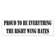 Everything Right Wing Hates Bumper Car Sticker