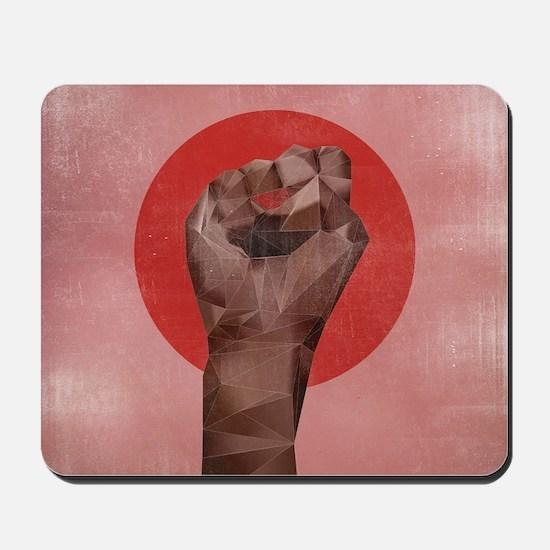 Black Herstory Pink Mousepad