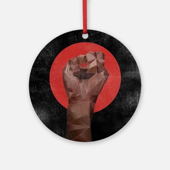 Black Herstory Black Round Ornament