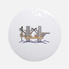 OFFSHORE OIL RIG Ornament (Round)