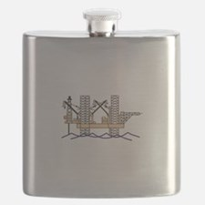 OFFSHORE OIL RIG Flask