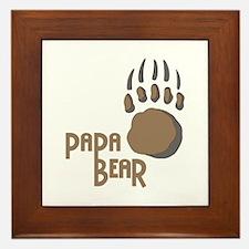 BEAR PAW PAPA Framed Tile