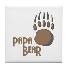BEAR PAW PAPA Tile Coaster