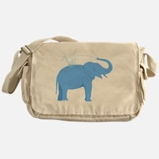 Jolly Blue Elephant Messenger Bag