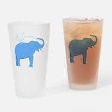 Jolly Blue Elephant Drinking Glass