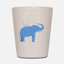 Jolly Blue Elephant Shot Glass