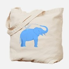 Jolly Blue Elephant Tote Bag