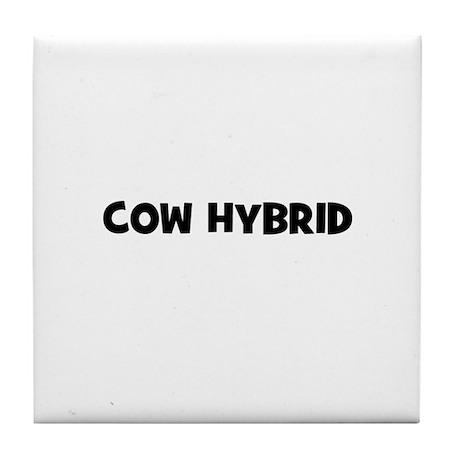 cow hybrid Tile Coaster