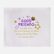 GOOD FRIENDS Throw Blanket