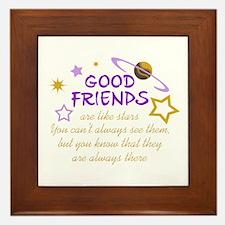 GOOD FRIENDS Framed Tile