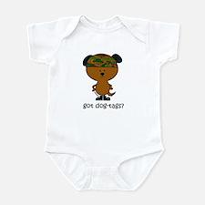 got dog-tags? Infant Bodysuit