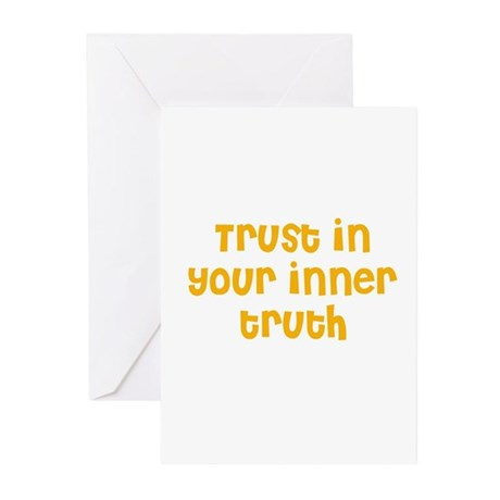 Trust in your inner truth Greeting Cards (Package