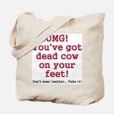 Dead cow on feet Tote Bag