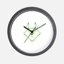 Green Anime Mouse Wall Clock