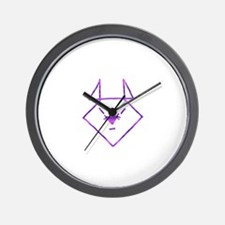 Purple Anime Mouse Wall Clock
