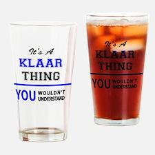 Cute Klaar Drinking Glass