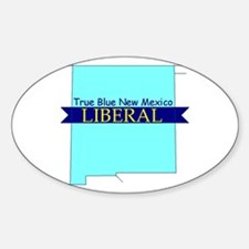True Blue New Mexico LIBERAL Oval Decal