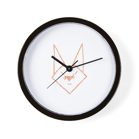 Peach Anime Rabbit Wall Clock